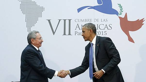 Historic US-Cuba talks between Obama and Castro