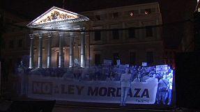 Protesto virtual nas ruas de Madrid