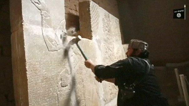 IŞİD'in Nemrut'ta 'tarihi' yıkımının görüntüleri