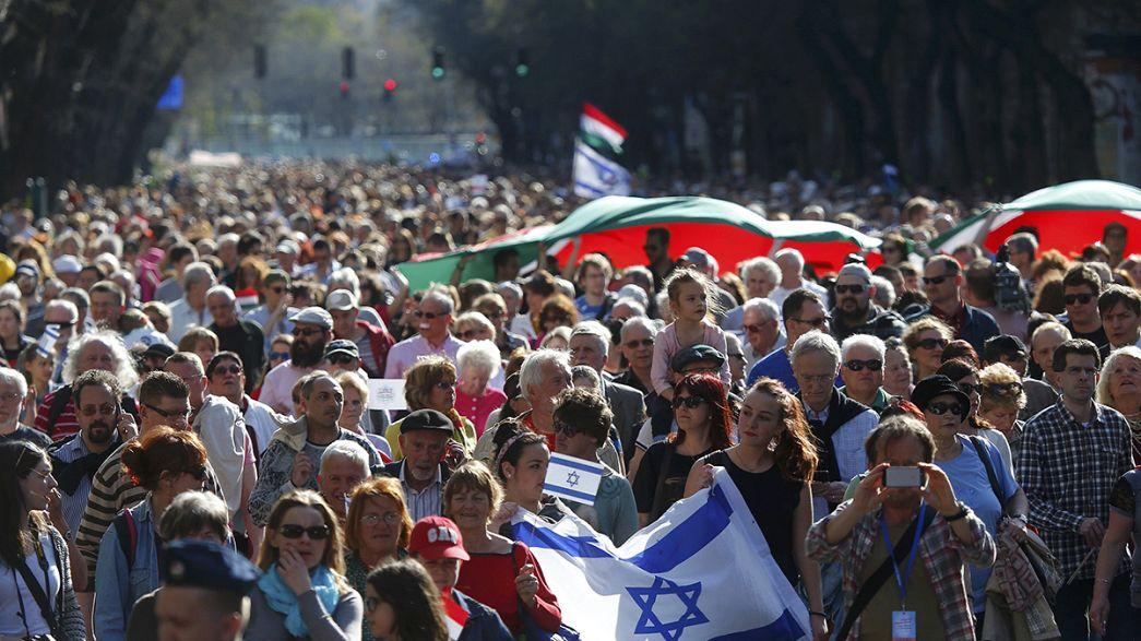 Commémoration de la Shoah sur fond de montée de l'antisémitisme à Budapest