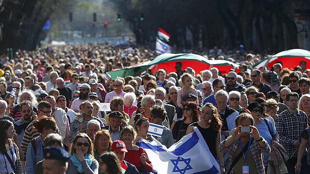 La 'Marcha de la Vida' recuerda a los miles de húngaros asesinados en el Holocausto