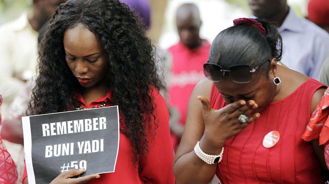 Primer aniversario del secuestro de 200 niñas por Boko Haram en Nigeria