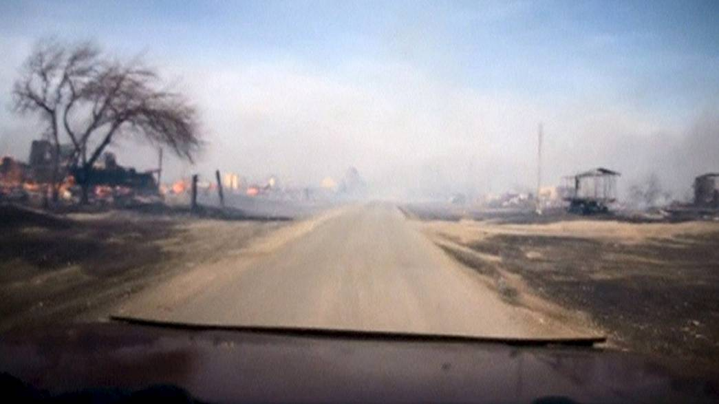 Grass fires leave 15 people dead in Khakassia, Russia