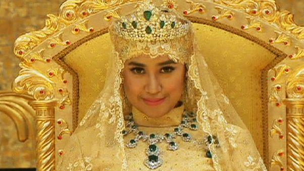 ازدواج شاهزاده برونئی در میان طلا و زمرد