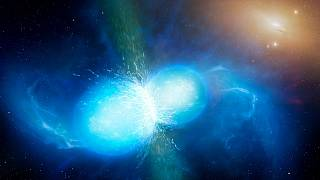 Image: This artist's impression shows two tiny but very dense neutron stars