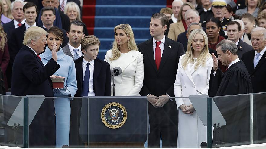 Image: Donald Trump is sworn in as the 45th president of the United States
