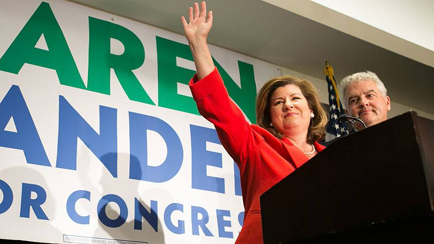 Image: GOP GA Congressional Candidate Karen Handel Holds Election Night Eve