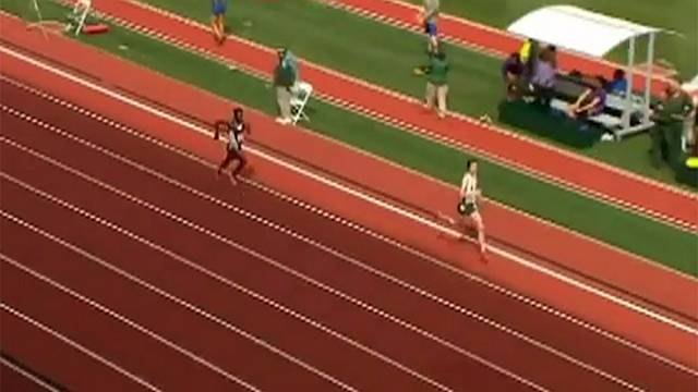 [Watch] Oregon runner beaten after celebrating too early