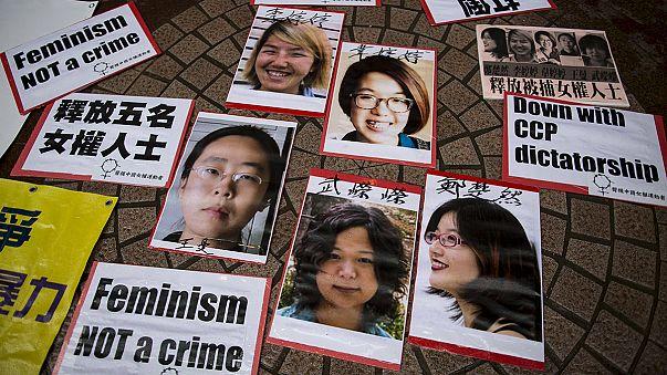 """Activistas chinas, liberadas """"a medias"""""""