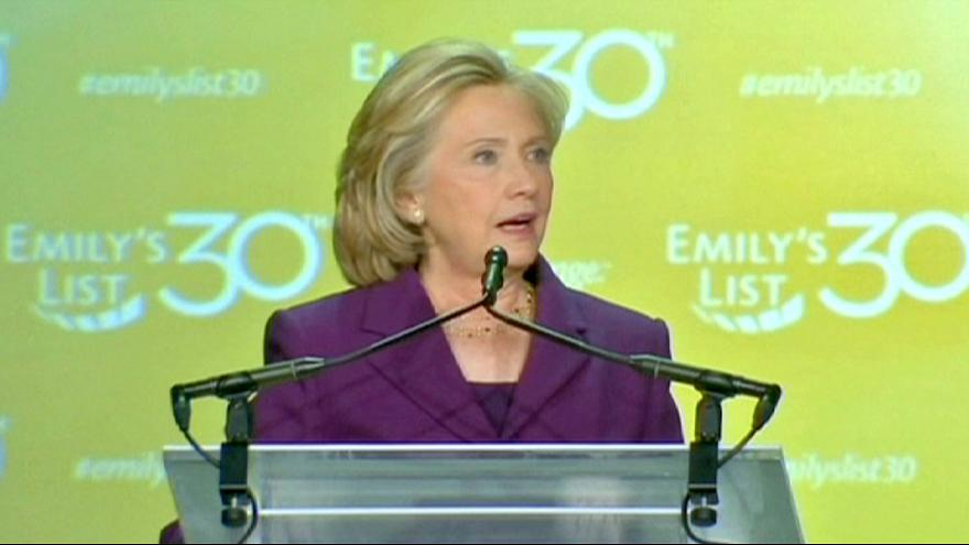 Hillary Clinton puts her gender centre stage, rivals say she's past it