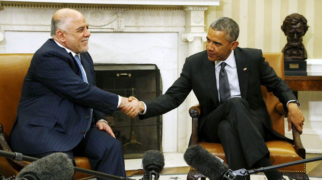 Obama ofrece 190 millones de euros en ayuda humanitaria al primer ministro iraquí