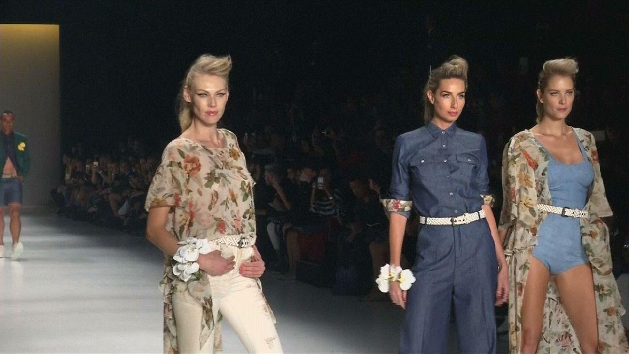 أزياء مزهرة للربيع والصيف القادمين تعرض في أسبوع ساو باولو للموضة