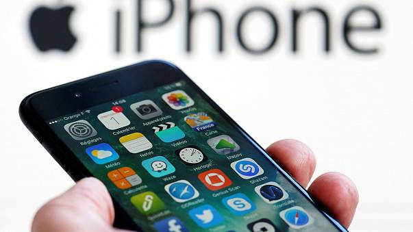 Image: An Apple iPhone with apps