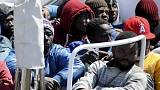 Migrants from Africa wish desperately to be allowed to live in Europe