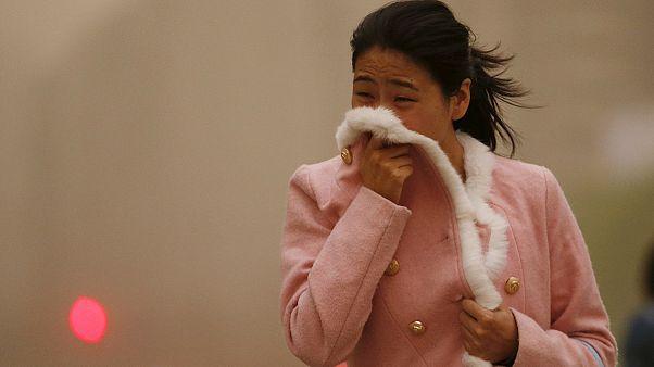 عاصفة رملية شمال الصين