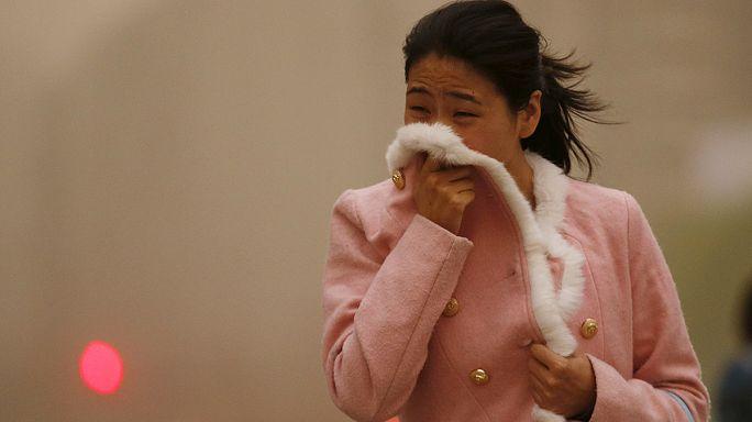 Homokvihar bénítja meg Észak-Kínát