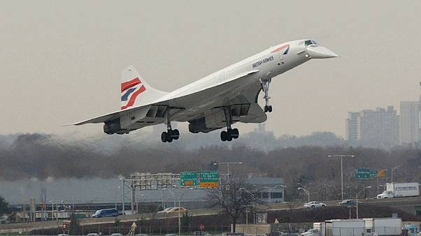 Image: A British Airways Concorde jet
