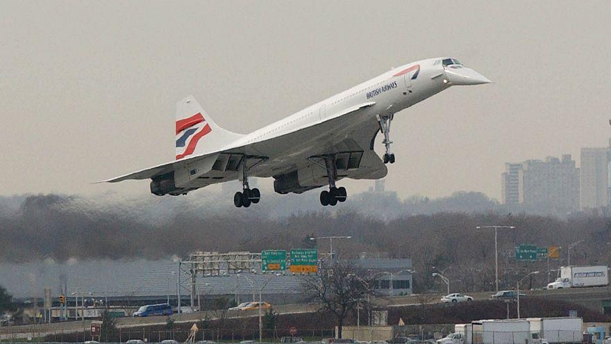 Image: A British Airways Concorde jet