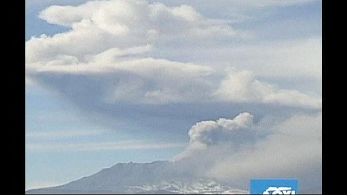 Peru'da Ubinas Yanardağı faaliyete geçti