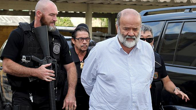 The treasurer of Brazil's ruling Workers' Party arrested on corruption charges