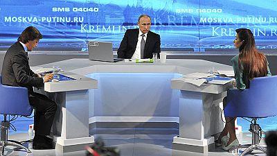 Fernsehsprechstunde: Putin sieht Sanktionen als Chance