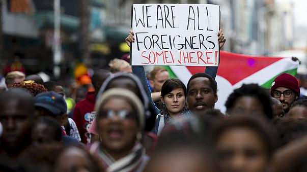 South Africans march against xenophobia