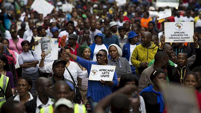 """مظاهرة في ديربان بجنوب إفريقيا ضد """"كره الأجانب"""""""