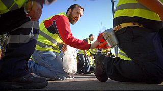 Yunanistan'da maden işçileri sokaklara döküldü