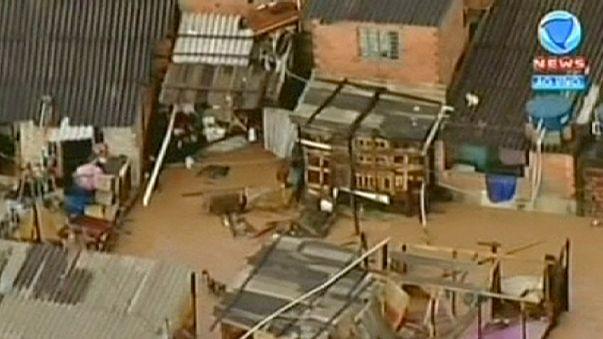 برغم خشکسالی در سائو پائولوی برزیل سیل جاری شد