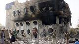 طيران التحالف يقصف المجمع الحكومي في وسط محافظة صعدة