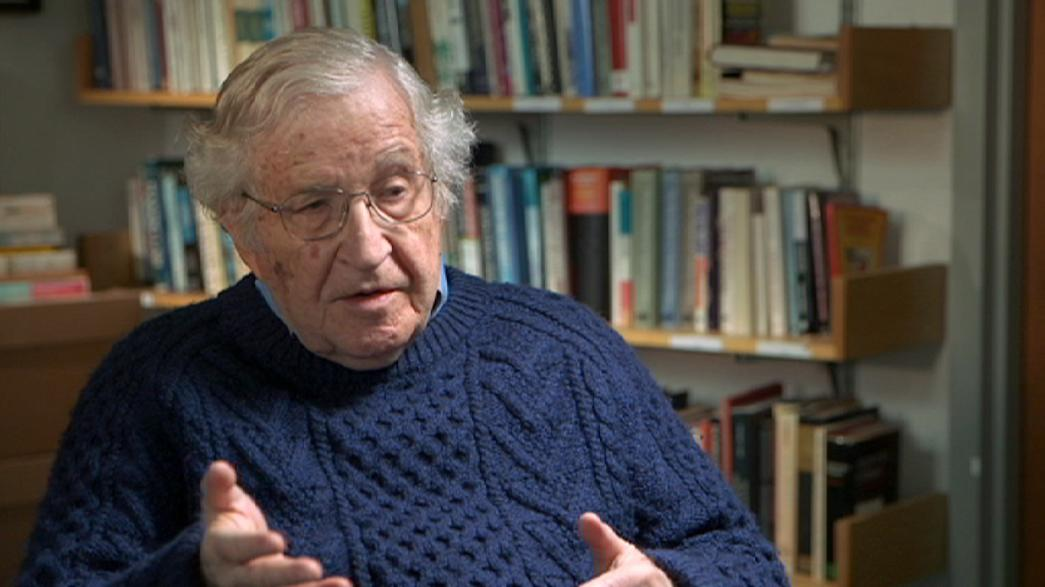 Noam Chomsky, star del mondo intellettuale