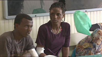 Flüchtlinge erreichen Lampedusa mit Verbrennungen