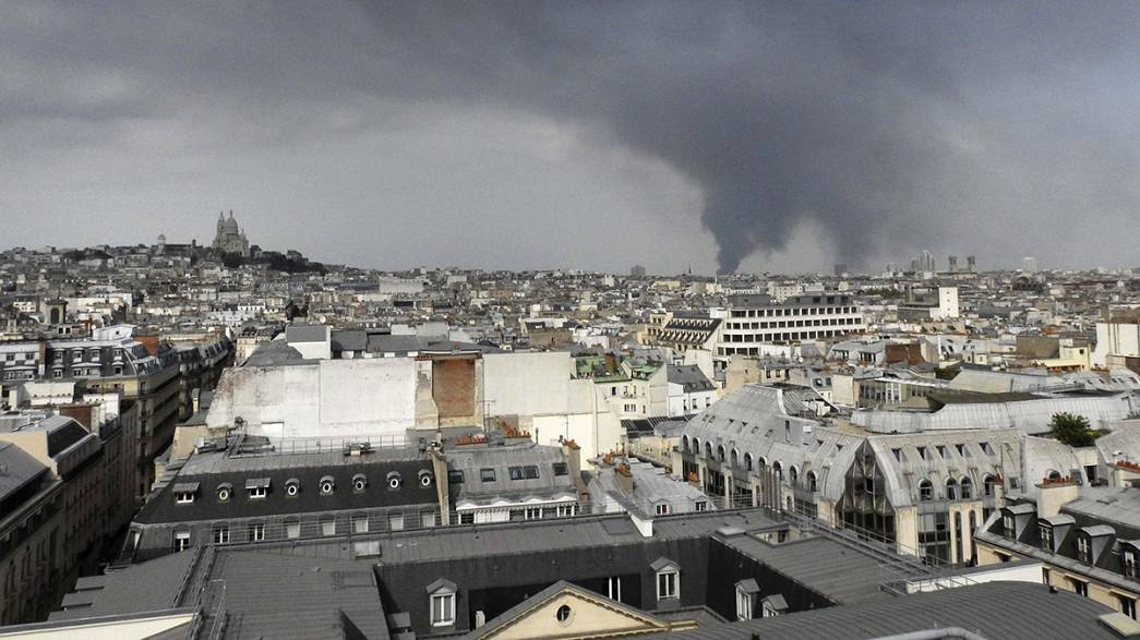 Paris warehouse fire still raging