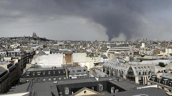 Paris warehouse fire still raging