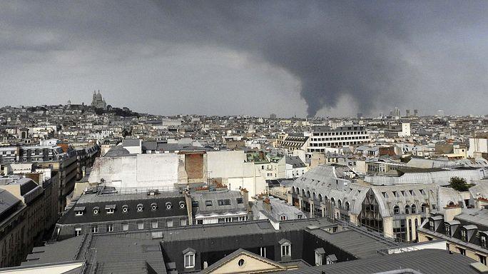 Франция: пожар севернее Парижа и его последствия