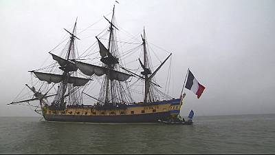 Replica of famous French frigate retraces historic voyage