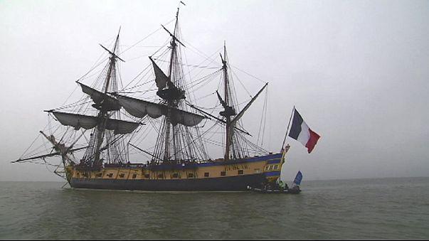 La Fragata de la Libertad lista para cruzar el Océano Atlántico
