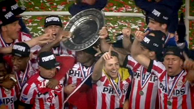 PSV Eindhoven win Dutch league for 22nd time