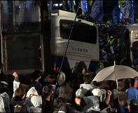 South Korean police clash with ferry victim relatives
