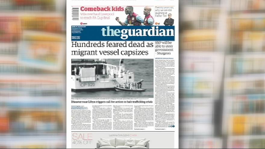 A tragédia dos imigrantes clandestinos faz as primeiras páginas dos principais jornais europeus