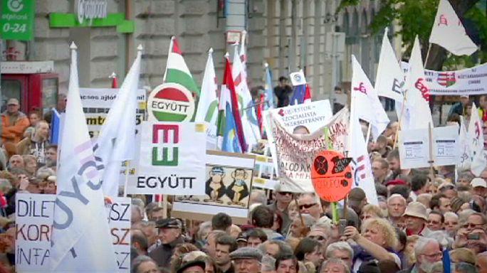 Kormányellenes tüntetéshullám Magyarországon