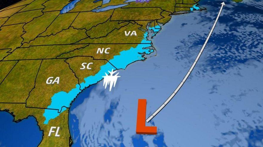 Image: East Coast snow