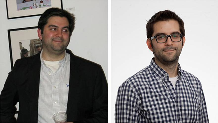 Image: Paul Smalera, before and after his 60 pound weight loss using Google