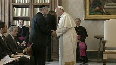 Pope meets Rabbis and warns about dangers of anti-Semitism