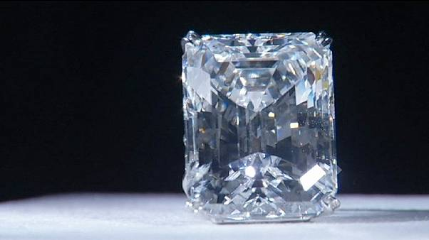 Glittering prize: Rare diamond up for auction in New York