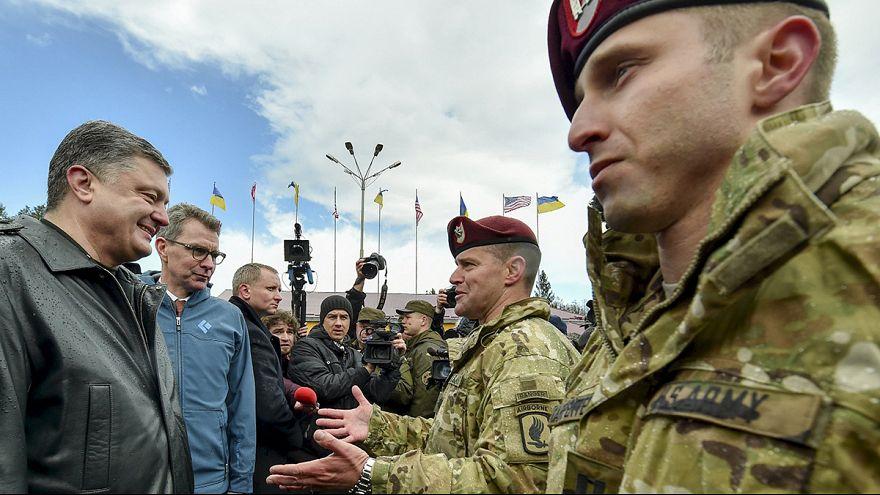 Американские десантники обучают украинских военных