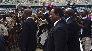 ملك الزولو بجنوب افريقيا يدين الهجمات ضد الاجانب