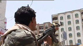 War scene in Taiz, Yemen