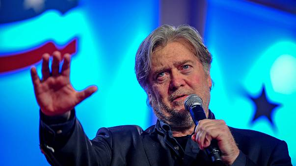 Image: Former White House Chief Strategist Bannon delivers remarks in Washi