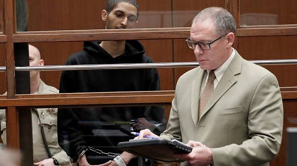 Image: Tyler Barriss, 25, appears in court for his extradition hearing with